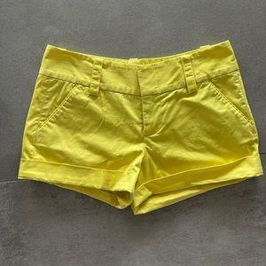 Alice + Olivia Canary Yellow Shorts